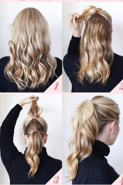 High Ponytail Style for Girls in Hurry