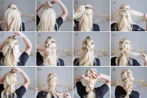 Pull Through Braid Hairstyle for Girls