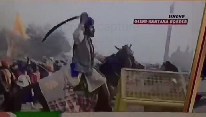 Delhi Tractor Rally with weapon