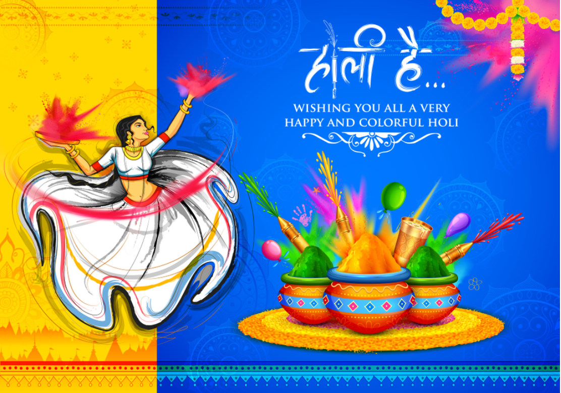 Happy Holi Wishes for Family