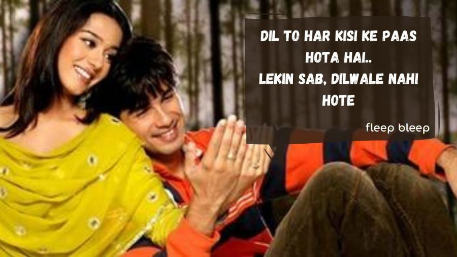 romantic dialogues of bollywood